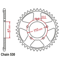 SUPERSPROX 44T SUZUKI REAR SPROCKET (829)
