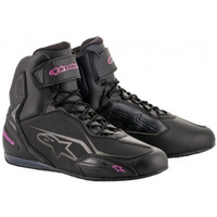 ALPINESTARS STELLA FASTER V3 RIDE BOOT BLACK FUCHIA