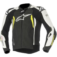 ALPINESTARS GP TECH V2 TECH AIR JACKET BLACK WHITE FLURO YELLOW