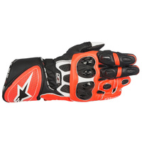 ALPINESTARS GP PLUS R GLOVE BLK/WHT/FLURORED