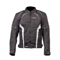 MOTODRY ULTRAVENT JACKET BLACK WHITE