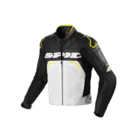 SPIDI EVO RIDER PERFORATED BLACK WHITE FLURO YELLOW