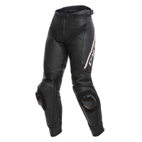DAINESE DELTA 3 LEATHER LADY PANT 948 BLK/BLK/WHT