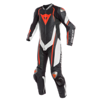 DAINESE KYALAMI 1PCE PERFORATED SUIT BLK/WHITE/RED-FLURO