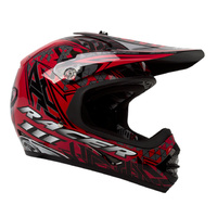 RACER III KIDS MOTO X BLACK/RED