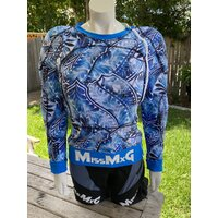 MISSMXG FEMALE MOTOCROSS ARMOURED JERSEY ISLAND DREAM BLUE